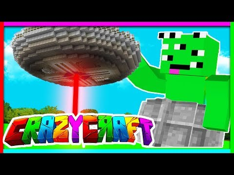 HOW TO BUILD A WORKING UFO - Crazy Craft w/ TinyTurtle