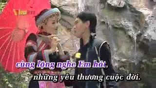 Thơ tình của núi-Tân Nhàn Ft Tuấn Anh Karaoke