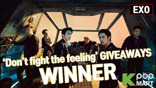 EXO DON'T FIGHT THE FEELING Unboxing   Giveaway WINNER 엑소 언박싱 무료나눔   KPOPMART