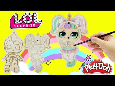 LOL Surprise PLAY DOH Cookies Unicorn & Punk Boi Craft DIY