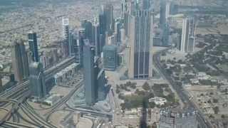 AT THE TOP BURJ KHALIFA OVERLOOKING FULL DUBAI HD