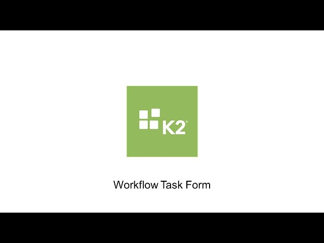 How-To: Manual Integration of a Workflow Task Form