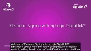 E-Signing with zipLogix Digital Ink®