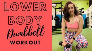 Lower Body Dumbbell Workout | Personal Training Session