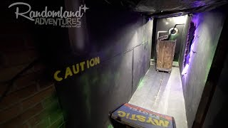 This kid built a Dark Ride in his HOUSE! Mystic Motel DIY Haunt at Halloween!