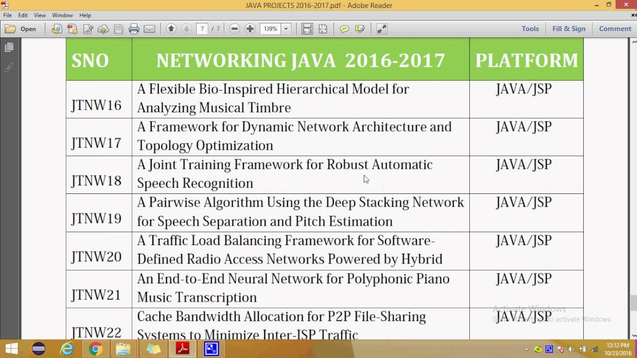 IEEE PROJECTS 2016 TITLE LIST | JAVA NETWORKING | IEEE PROJECTS 2017