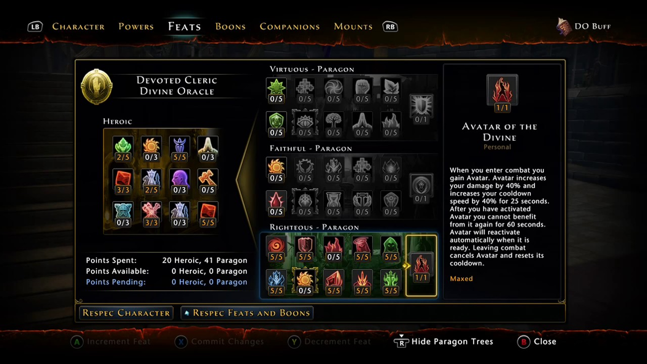 Neverwinter devote cleric buff/heal build anointed champion.