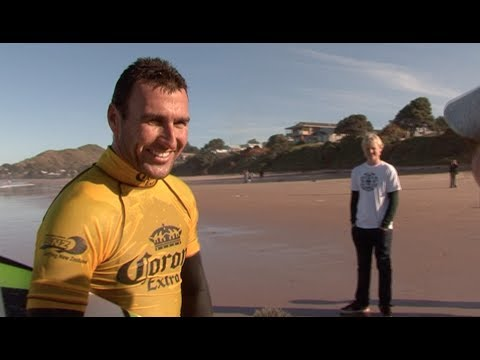 Joel Parkinson and Mark Occhilupo Surfing Gisborne