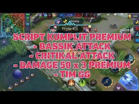 Cheat Script Damage Premium ALL HERO Work Rank / Classic Mobile Legends