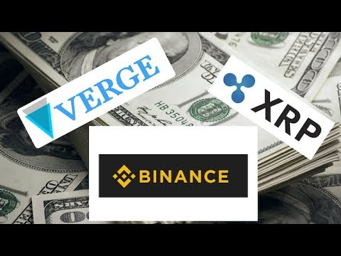 Binance confirm XRP : Verge pairing with USD not in near future