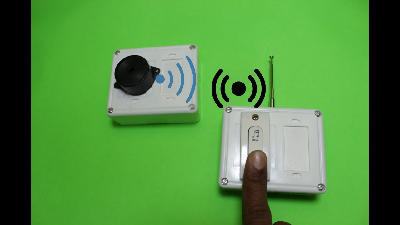 How To Make A Simple Wireless Doorbell At Home Youtube Locking Buzzer Circuit Diagram