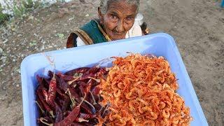 Traditional Royyala Karam | Spicy Shrimp Powder Recipe By Granny Mastanamma