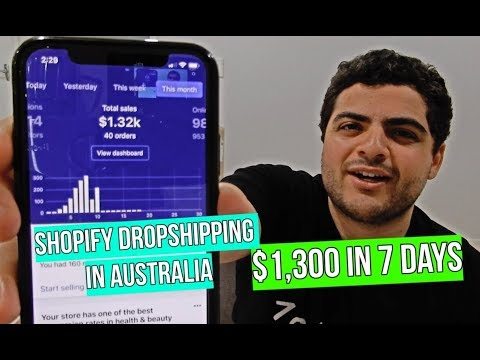 Making $1,300 In 7 Days Dropshipping In Australia (Product & Ad Strategy Shown)