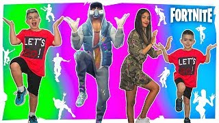 FORTNITE DANCE CHALLENGE!!! BAILES DE FORTNITE IN REAL LIFE #2 Who dances best?