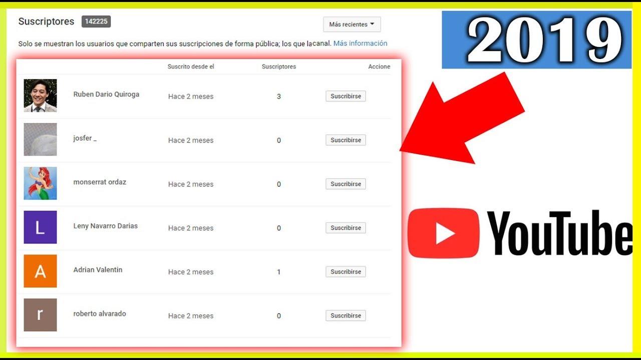 Cómo Ver Mis Suscriptores De Youtube 2020 Como Saber Quienes Están Suscritos A Mi Canal Youtube