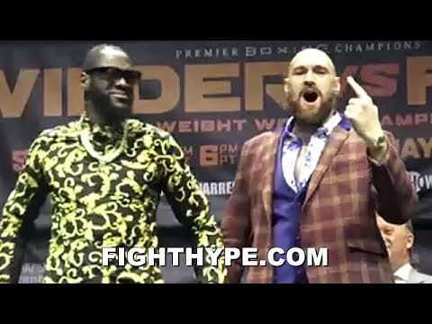 (BEEF!) DEONTAY WILDER VS. TYSON FURY FULL LA PRESS CONFERENCE; ERUPTS INTO NEAR BRAWL