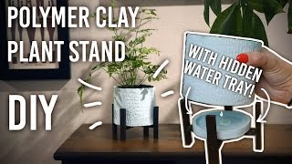 How to Make a Polymer Clay Planter with Hidden Drain Tray : DIY