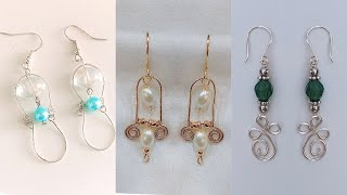 3 easy diy earrings/simple earrings making at home/handmade jewelry/pearl drop earrings