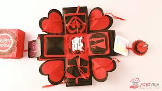Birthday Explosion Box | Handcraft Gift | Gift for him | Gift for her | Birthday Gift | fotovilla.in