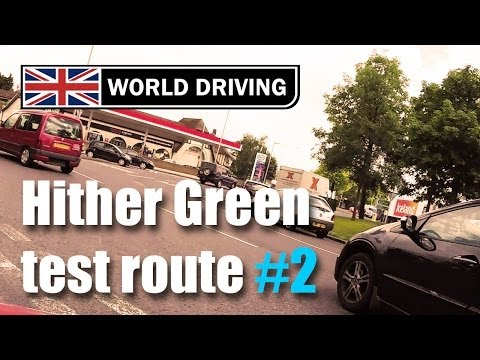 Hither Green driving test route PART 2 (2014)