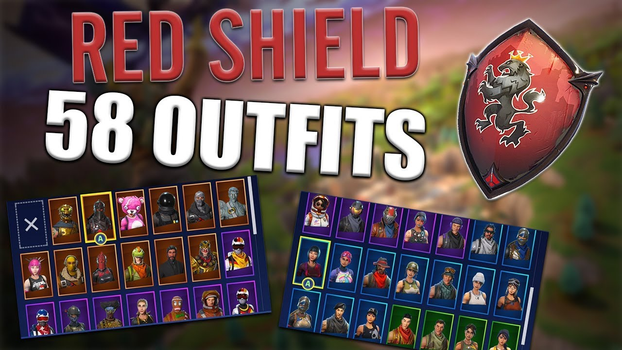 Red Shield Back Bling On 58 Outfits Red Knight Fortnite Youtube