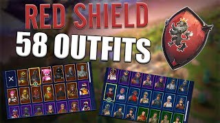 Red Shield Back Bling on 58 Outfits | Red Knight - Fortnite