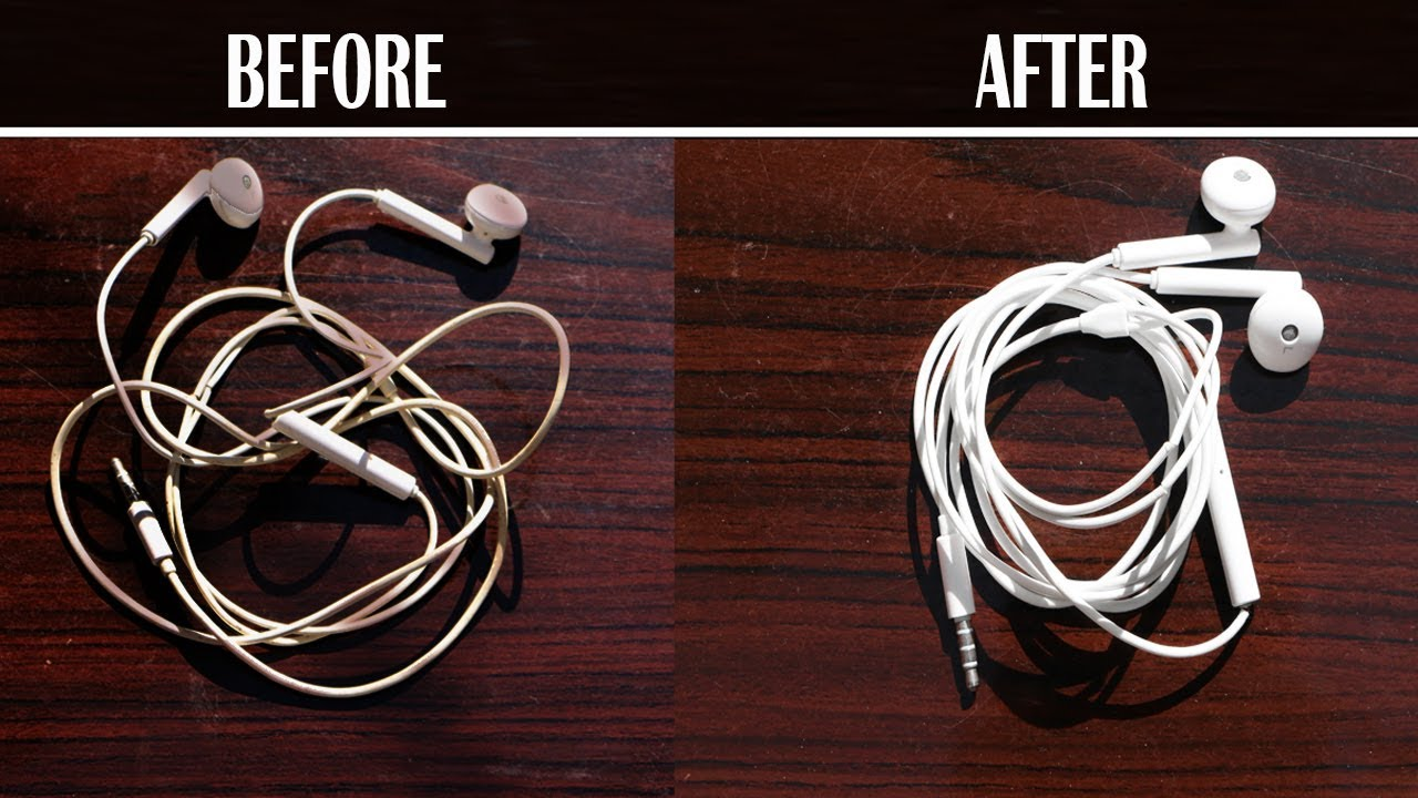how to clean dirty earphones wire at home whitening formula [ 1280 x 720 Pixel ]