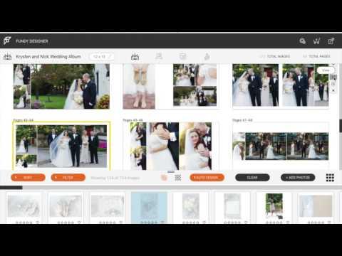 Fundy Album Designer 7 Auto Design Screen Flow