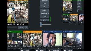 VMIX Live Streaming Youtube Dg Handycam & Web Cam External Input Audio Dari Mixer | Learning VMix