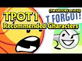 TPOT 1 Recommended Characters Stinger At The End