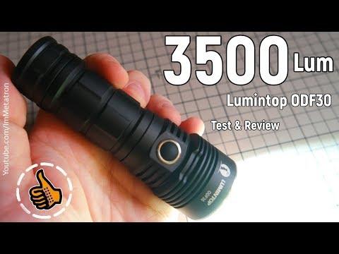 Фонарь LuminTop ODF30 - 3500 люмен - ОБЗОР и НОЧНОЙ ТЕСТ