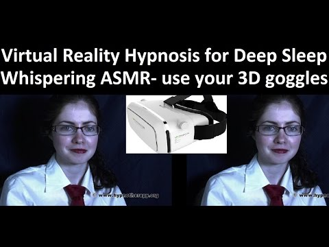 Virtual Reality ASMR - Whispering hypnosis for sleep with Maggie #ASMR #3D #hypnosis #insomnia