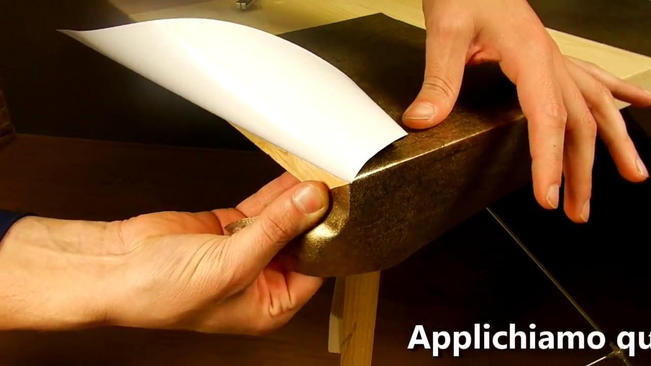 Come applicare la pellicola adesiva sugli angoli opzione a vista youtube - Pellicola adesiva per mobili ...