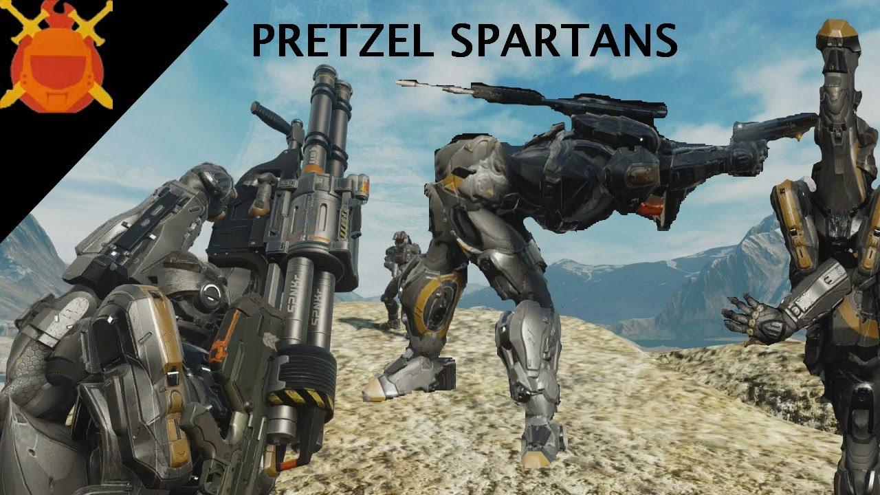 Crazy Halo 5 Glitches! (Become a Pretzel Spartan!) - YouTube
