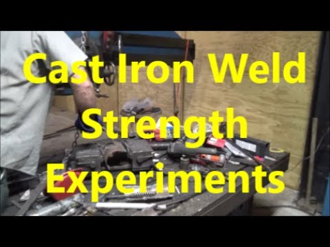 Experimental strength welding of cast iron