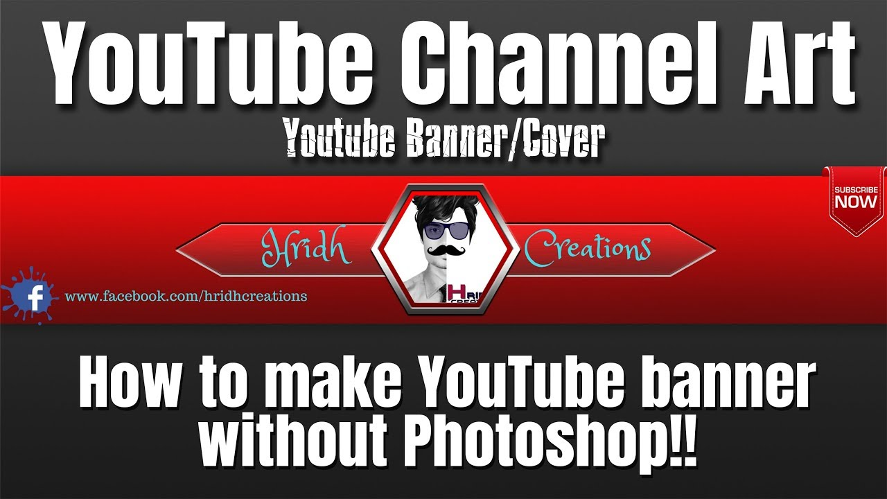 how to make a youtube banner without photoshop