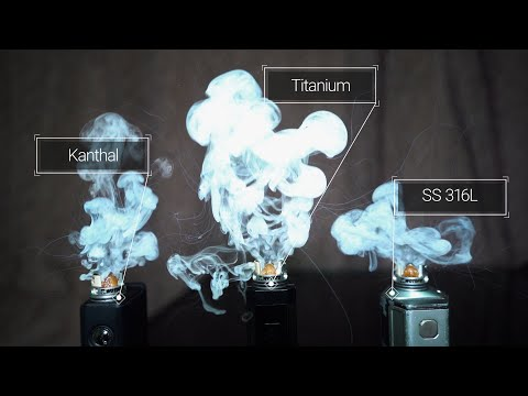 Comparing Titanium to SS and Kanthal for daily-vape!