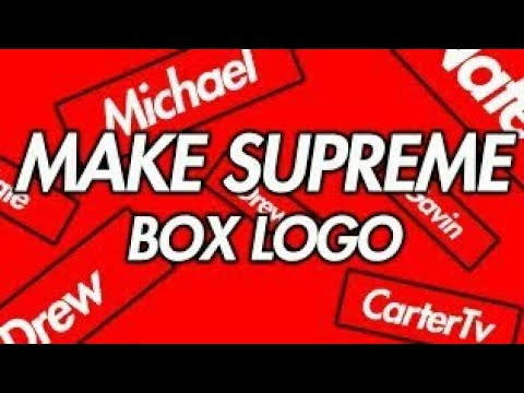 How To Make Supreme Box Logo On Android
