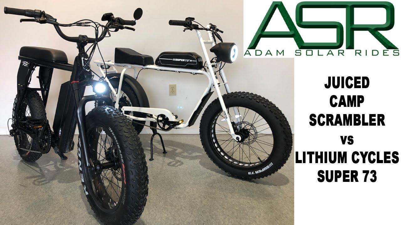 54d63b0b588 Juiced Scrambler VS Lithium Cycles Super 73 - YouTube