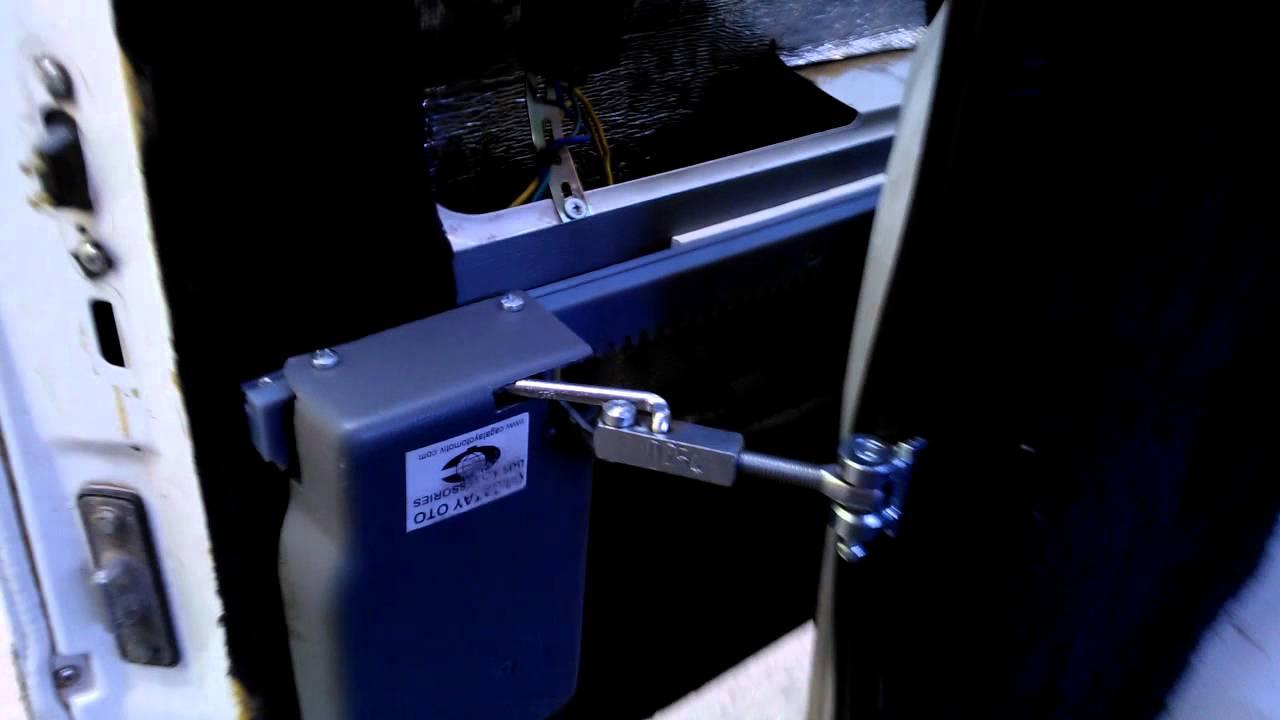 Электро привод двери - YouTube