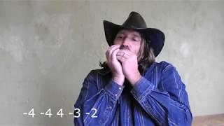 """Техасское кантри на губной гармонике """"Golden Melody"""", тональность С, табы+ минусовка"""