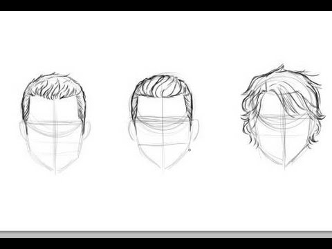 draw men's hair