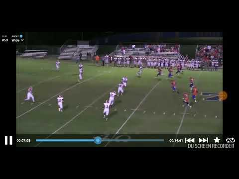 (Jacob pitts) North pontotoc High school football hit