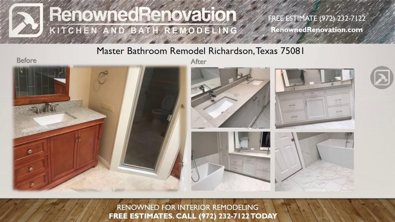 Master Bathroom Remodel University Dr Richardson TX YouTube - Bathroom remodel richardson tx