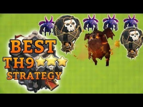 Clash of clan - Best attack strategy th8,th9 for best loot
