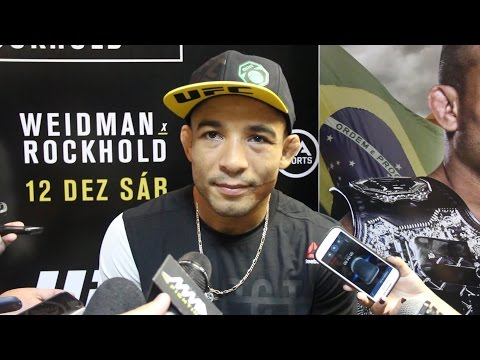 UFC 194: Jose Aldo Media Scrum in Rio
