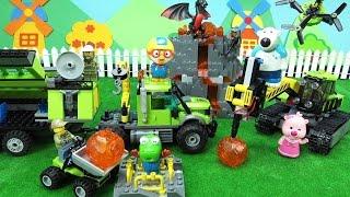 뽀로로 레고 시티 화산 탐사 기지 대탐험 ❤ 뽀로로 장난감 애니 ❤ Pororo Toy Video