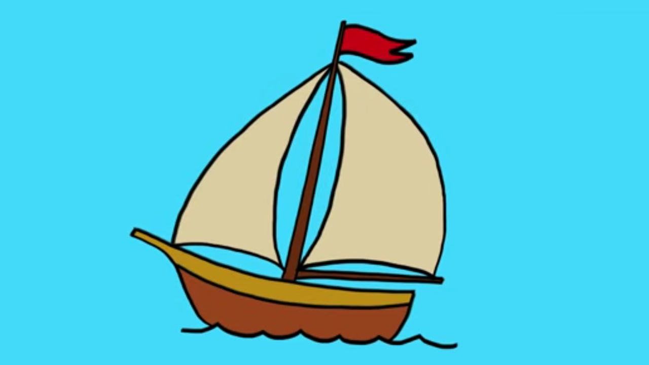 Comment dessiner un bateau voile youtube - Dessin d un bateau ...