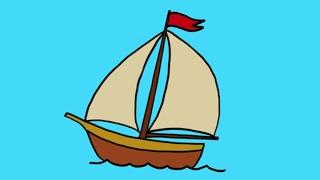 Comment dessiner un bateau à voile ?