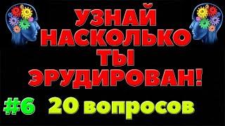 УЗНАЙ НАСКОЛЬКО ТЫ ЭРУДИРОВАН (ТЕСТ) - выпуск 6
